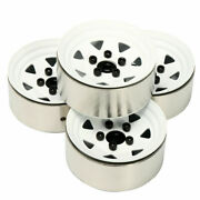 4 X Fit 1.9 Rock Crawler Tires Tyre Rc Heavy Metal 1.9and039and039 Beadlock Wheels Rims