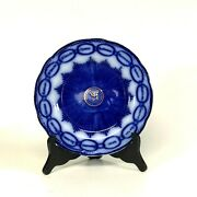 Nice 19th Century Flow Blue English Plate W/ 15 States Names