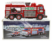 2005 Hess Gasoline Gas And Oil Toy Battery Operated Rescue Fire Truck New Box