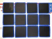 Lot Of 12 Blank 3 X 3 Cloth Patches Embroidered Edges Black Blue Patch Square