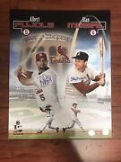 St. Louis Cardinals Greats Albert Pujols And Stan Musial Autographed 16x20 Photo