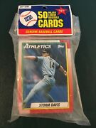 Tops Pack Of Fifty Baseball Cards New Unopened First Card Storm Davis