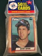 New Unopened Tops Pack Of Fifty Baseball Cards First Card Kevin Tapani Twins