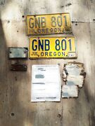 1949 Chevy Coupe License Plate Pair Vin Tag Body Tag And Pink Slip/title Set