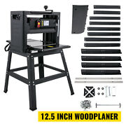 12.5 Thickness Planer 15a 1500w Wood Planer 4 Blades With Stand For Woodworking