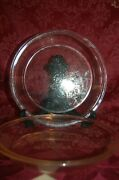 Vintage Pyrex Clear Glass Rimmed Pie Plates 209 And 208 Usa Trade Mark