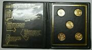 2003 24k Gold Plated First Commemorative Mint State Five Quarter Coin Collection