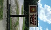 Two Piccisilly Circus Pizza Sign Panels For Light Up Neon Sign