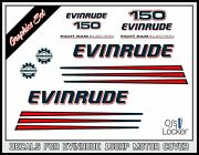 Evindrude 150hp Ficht Ram Injection Outboard Engine Replacement Die-cut Stickers