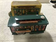 San Francisco Cable Car Powell And Mason Tin Friction Bell Japan 1960's Box Works