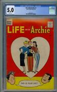 Life With Archie 1 Cgc 5.0 1958 White Pages See Scan Rare L4 215 Cm Clean