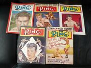 5 Issues The Ring 1948 -51 Rocky Graziano Rex Layne Johnson Boxing Mag Sports
