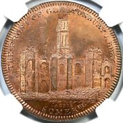 1797 Dandh-135 Ngc Ms 64 Rb Middlesex - Skidmoreand039s Great Britain Conder Token 1p