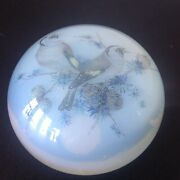 Vintage Murano Birds Murano Glass Dome Paperweight Paper Label