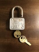 Antique Master Lock 77 Standing Lion Milwaukee Wi And Master Key Matching Number