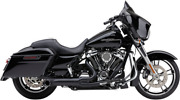 Cobra Turnout 2-into-1 Exhaust System, Black Harley Flh, Flt Touring 2017-2020