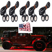 10x Red Led Rock Light For Jeep Atv Off-road Truck Underbody Trail Rig