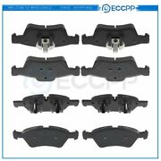 Front And Rear Brake Ceramic Pads For 2007-2012 Mercedes-benz Gl450