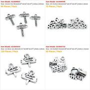 Antique Silver Jewelry Making Charms Camping Street Sign Camp Rocks Love Cheer