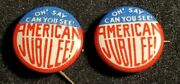 Oh Say Can You See American Jubilee 1939 Ny Worlds Fair Button Pin W650 Both