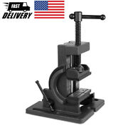 4 Inch Industrial Strength Benchtop And Drill Press Tilting Angle Vise