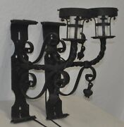 Pair Of Early 20th Century Italian Wrought Iron Wall Sconceand039s