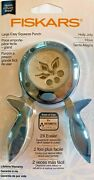 Fiskars Holly Jolly - Winter Easy Squeeze Paper Punch Folder Label Christmas Nip