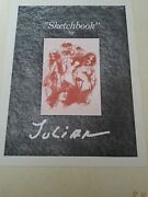 Julian Ritter - Complete Sketchbook Rare Limited To 325 Editions Coa