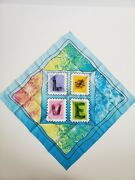New Little Brownie Love Stamp Bandana Scarf Girl Scout Cookie Incentive Passport