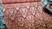 Highend French Chenille Double Weave Red Vintage Cotton Upholstery Fabric 5yds