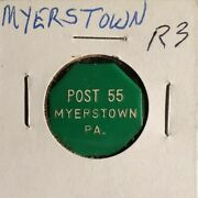 American Legion Post 55 Myerstown Pa Good For 10c In Trade Token♤gft972◇r3
