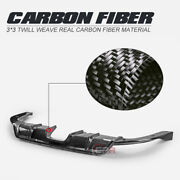 Sc-style Carbon Fiber Rear Diffuser Middle Twin Exhaust Part For Honda Civic Fc