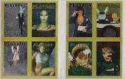 1995 Playboy Chromium Cover Cards Series 1 Two Uncut Sheets Of Trading Cards