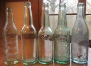 Lot Of Vintage Glass Soda Bottles In Good Condition