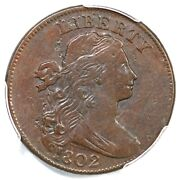 1802 S-240 R-3 Pcgs Vf 30 Draped Bust Large Cent Coin 1c
