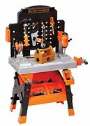 Black + Decker Power Tool Workshop - Play Toy Workbench For Kids With Drill