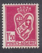 Algeria 1942 Coat Of Arms - 1f 50c Red - Sg184 - Mint Hinged D47b