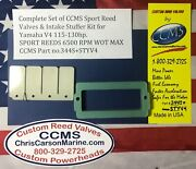 Ccms Yamaha Sport Outboard Reed Valve And Intake Stuffer Kit 115-130hp Carb.