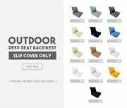 |cover Only| Piped Trim Small/medium/large Outdoor Deep Seat Backrest Slipcover