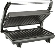 Table Electrique Couvercle Grill Barbecue Cuisson Sandwich Panini Hamburger Pain