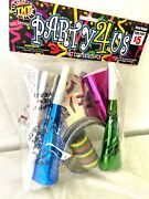 New Years Eve Glasses And Noise Maker- 20 Piece Set- Tnt
