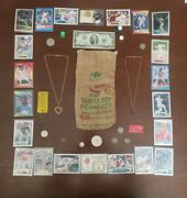 Junk Drawer- Us Silver Coinsover 35 Grams, Money, Necklaces, And Sports Cards