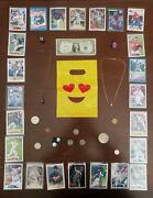 Junk Drawer- Us Silver Coinsover 35 Grams Money Necklaces And Sports Cards