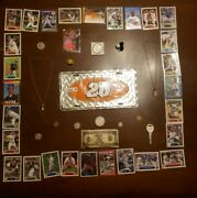 Junk Drawer- Us Silver Coinsover 35 Grams Nascar Gold Necklaces And Cards