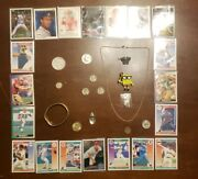 Vintage Junk Drawer-us Silver Coinsover 35 Grams Necklaces Sports Cards +
