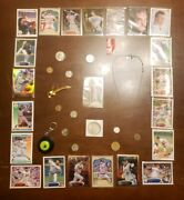 Junk Drawer- Us Silver Coinsover 35 Grams, Necklace, Pin, Sports Cards +