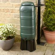 Slimline Water Butt 100l Kit With Stand Green - Pre-drilled Holes