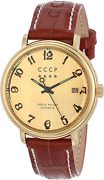 Cccp Menand039s Cp-7021-03 Heritage Analog Display Automatic Self Wind Brown Watch