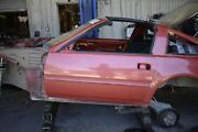 1984-1989 Nissan 300zx Vg30t Turbo Z31 Driver Left Front Door Shell Red