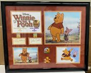 Winnie The Pooh Sterling Holloway And John Fiedler Signed Autographed Frame 22x17
